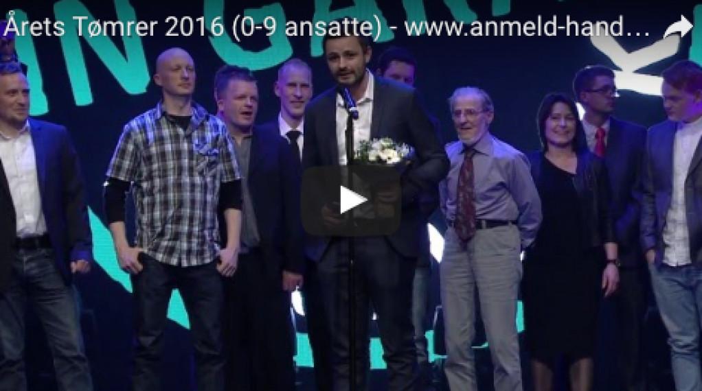 Årets tømrer (0-9 ansatte) 2016